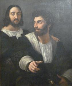 Raffaello - Doppio ritratto (Autoritratto con amico) 1518-1519 circa