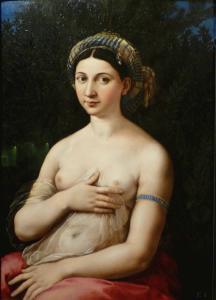 Raffaello . Ritratto di donna nei panni di Venere (Fornarina) 1519-1520
